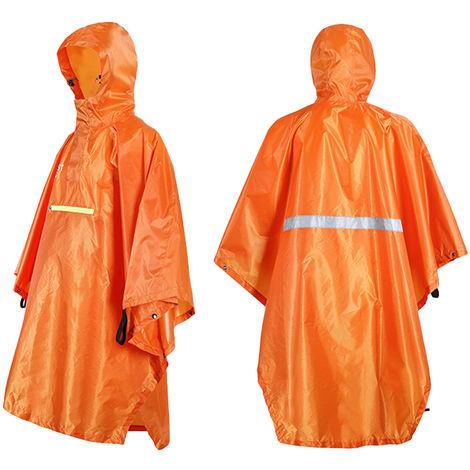 Vetements De Pluie Avec Bande Reflechissante, Orange