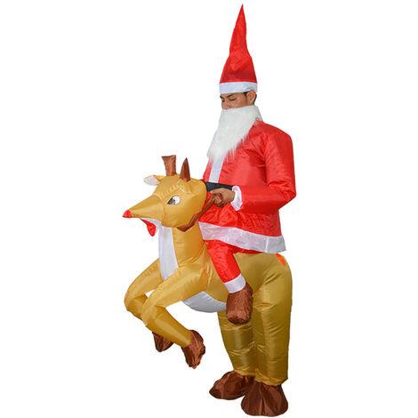 Vetements gonflables Elk Santa Claus Vetements gonflables de Noel Vetements gonflables de performance de vacances