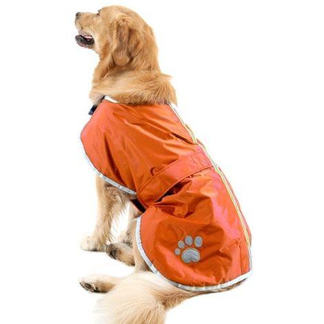 Vêtements Orange Automne et Hiver Style Oren Retriever Labrador Huge Chien Coton Vêtement avec ruban réfléchissant, Taille: XL,