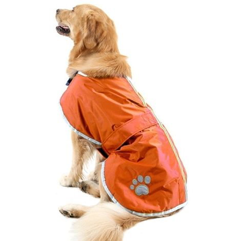 Vêtements Orange Automne et Hiver Style Oren Retriever Labrador Huge Chien Coton Vêtement avec ruban réfléchissant, Taille: XXL,