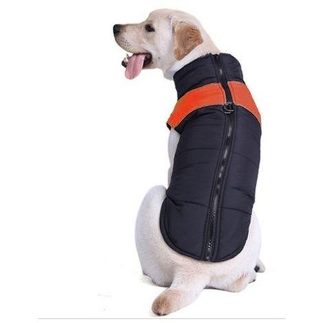 Vêtements Orange pour chien, Taille: L, Poitrine: 46cm, Longueur du dos: 35cm Combinaison de ski gilet en coton