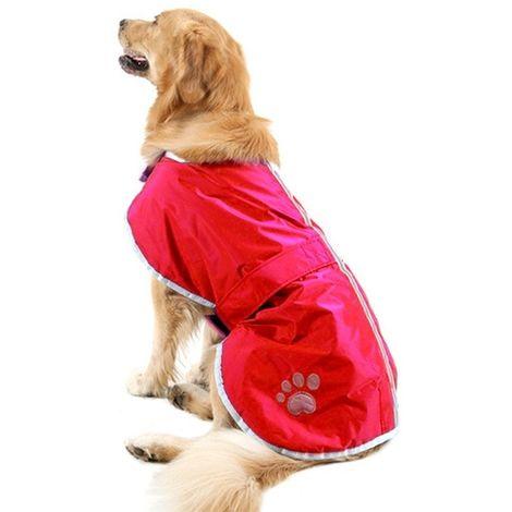 Vêtements rouge Automne et Hiver Style Oren Retriever Labrador Huge Chien Coton Vêtement avec ruban réfléchissant, Taille: XXL,