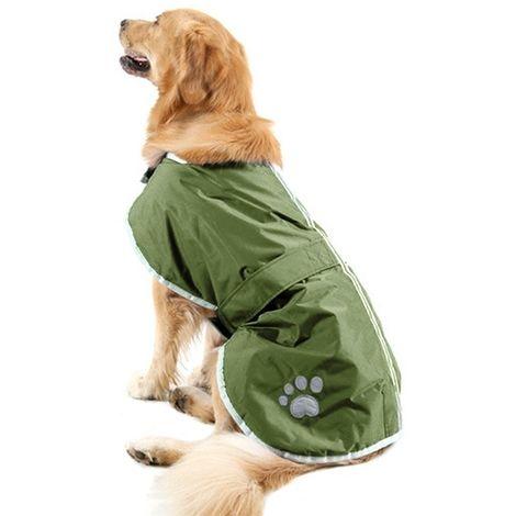 Vêtements vert armée Automne et Hiver Style Oren Retriever Labrador Huge Chien Coton Vêtement avec ruban réfléchissant, Taille:
