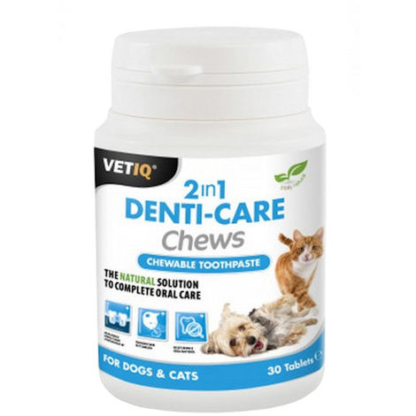 VetIQ Denti Care 2in1 Chews (30 Tablets) (May Vary)