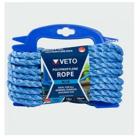 Veto BR1010W Blue Poly Rope Winder 10mm x 10m