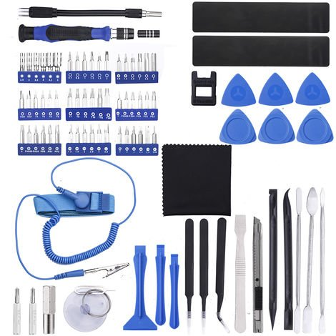 Bleu Noir Poign/ée en plastique 2/mm de large Pointe magn/étique Tournevis /à fente