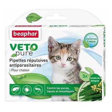 Vetopure, pipettes répulsives antiparasitaires, pour chaton - 3 x 0,4 ml
