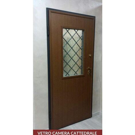 Vetro per Porta Blindata Vetrata con Misure 49.5 x 89.5 cm e Spessore 2 cm