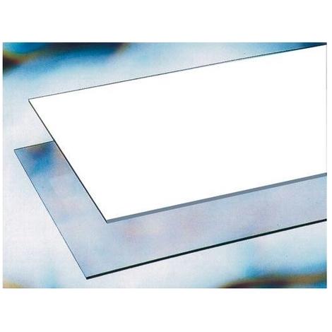 VETRO SINTETICO Bianco OPACO IN LASTRA da 2 mm 500X500 Termoformabile