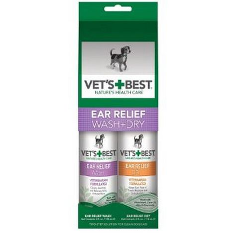 Vets Best Ear Relief Wash And Dry Liquid Fit For Dogs (118ml) (May Vary)