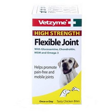 Vetzyme Flex HiStrength Dog Joint Tablets (3 Packs) (3 Packs) (May Vary)