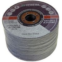 VEWERK - 115 X 3.2 X 22.2MM Metal Cutting Discs 25 Pack 8065