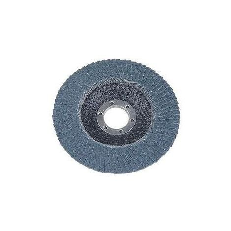 VEWERK Pack of 10 Flap Discs 80 Grit Zirconium (115mm X 22.2mm) 8023