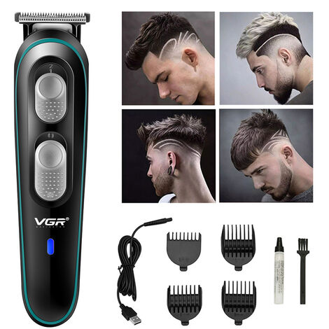 Vgr Barber Tondeuse Electrique Usb Rechargeable Tondeuse Rasoir Toilettage Auto-Cut Kit Low Haircutting Machine De Coupe Du Bruit Ambiant