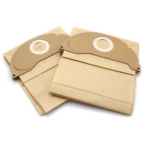 vhbw 10 Papier Staubsaugerbeutel Filtertüten für Staubsauger Saugroboter Kärcher WD 2.000 - WD 2.499, WD 2200, WD 2210, WD 2240, WD 2250, WD 2, MV 2