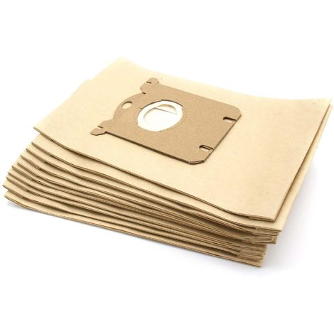 vhbw 10 sacs d'aspirateur en papier filtrants pour aspirateurs Hanseatic 7005 Titan, 7010 Titan, 7015 Titan, 7020 Stratus, 732326, 8000 Tornado