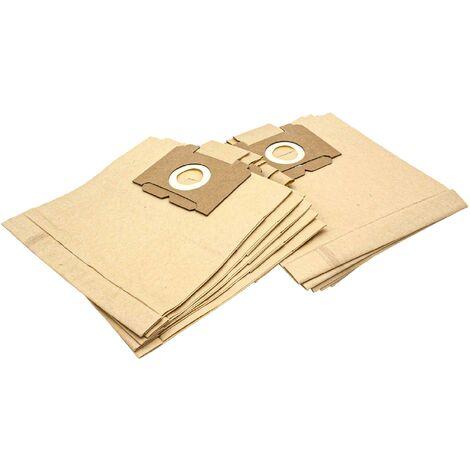 vhbw 10 Sacs d'aspirateur en papier pour aspirateurs Singer Cyclone 1000, Declic 6, Declic DBE, Junior 1000, T 2.1