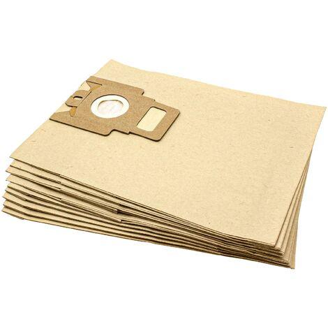 vhbw 10 sacs papier pour aspirateur, robot aspirateur, multi-usages Miele Electronic 1400, 1800, 2000, 2500, 2900, 3000, 3100, 3200, 3300, 3400