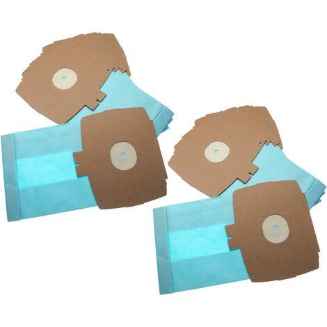 vhbw 10 Staubsaugerbeutel passend für Hoover EL 9 / EL9 Staubsauger, Papier 26.1cm x 15.05cm