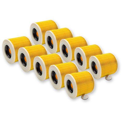 10x Schiuma Filtro per EINHELL RT-VC 1630 sa YPL 1250 YPL 1400//30