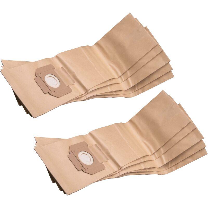 10x bolsa compatible con Stihl SE 120 aspiradora - papel, marrón - Vhbw