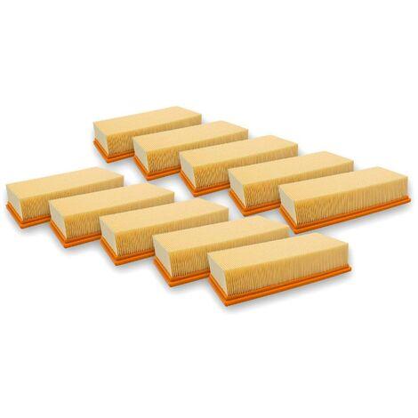vhbw 10x filtre à plis plats pour aspirateur à liquide/à sec compatible avec Hilti VC 300