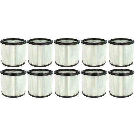 vhbw 10x filtre rond pour aspirateur multifonction compatible avec Aldi Workzone aspirateur à liquide, nettoyeur à sec