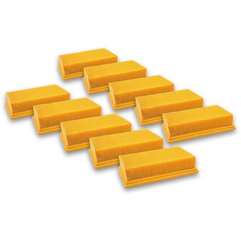 vhbw 10x Filtres plats pour aspirateur Hilti VC-20, VC-40, VC 20 UM, VC 40 UM comme Bosch 2607432033, Dewalt D279015-XJ