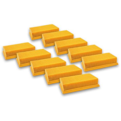 vhbw 10x Filtros plisados planos compatibles con Hilti VC 20 U, VC 40 U, VC 40 UM, VC 20 UM; aspiradoras