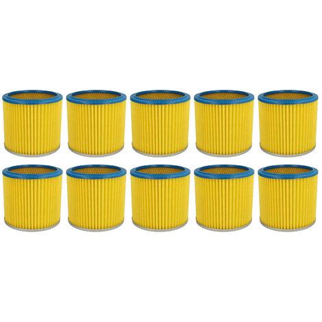 vhbw 10x Filtros redondos, filtros laminados, filtros para aspiradoras, aspiradores multiusos Mauk NTS 20, NTS 30l 1200W, NTS 20l 1200W