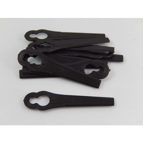 vhbw 10x Replacement Blade compatible with Einhell BG-CT 18 Li, GE-CT 18 Li, RG-CT 18/1 Li Cordless Strimmer - Cutter Blades, black, plastic