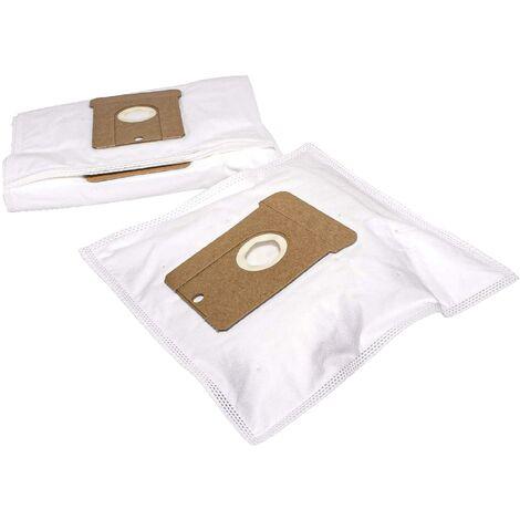 vhbw 10x sacs compatible avec Chromex Compact aspirateur - microfibres non tissées, blanc