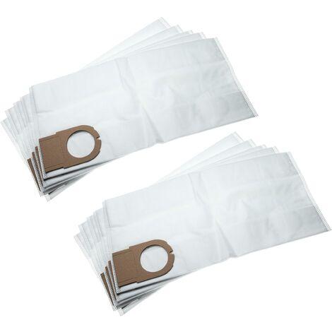 vhbw 10x sacs compatible avec Metabo AS 9010, ASA 9011 aspirateur - microfibres non tissées, 49.3cm x 23.7cm, blanc