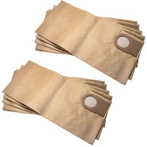 vhbw 10x sacs compatible avec Metabo AS 9010, ASA 9011 aspirateur - papier, 51.3cm x 24.1cm, marron