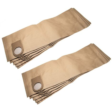 vhbw 10x sacs compatible avec Metabo ASA 2025, ASA 9050, ASR 1250, SHO 1150 aspirateur - papier, 67.9cm x 24.15cm, marron