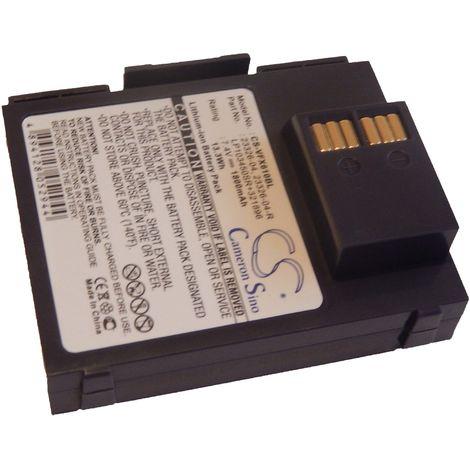 vhbw 1800mAh (7.4V) POS CARD TERMINAL BATTERY for Verifone VX610, VX 610 wireless terminal as 23326-04, 23326-04-R, LP103450SR+321896.