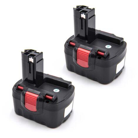 vhbw 2 x Batterie compatible avec Strapex STB65 outil électrique (1500mAh NiMH 14,4V)