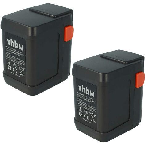 vhbw 2 x Li-Ion Batería 4000mAh (18V) para su herramienta electrónica Gardena AccuCut Li 400, 450 por 8835-U, 8835-20, 8839, 8839-20
