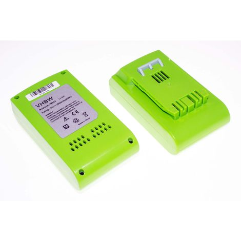 vhbw 2 x Li-Ion battery 2500mAh (24V) for electronic tool Greenworks 20-Inch Cordless Pole Hedge Trimmer replaces 29322.