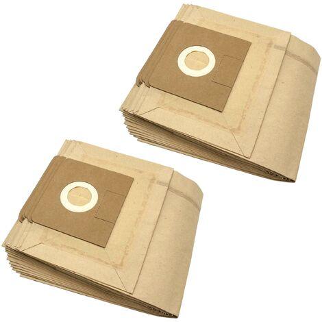vhbw 20x sacs compatible avec Flex As Pi S 36, Org. Beutel: 497.961, S 36, S35 aspirateur - papier, marron
