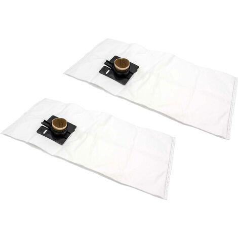 vhbw 20x sacs remplacement pour Festo / Festool 452970, FIS-CT 22, FIS-CTL 22, FIS-CTM 22 pour aspirateur - microfibres non tissées, blanc