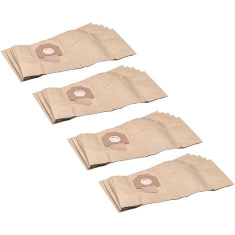 vhbw 20x sacs remplacement pour Protool / Festool 625344 pour aspirateur - papier, marron