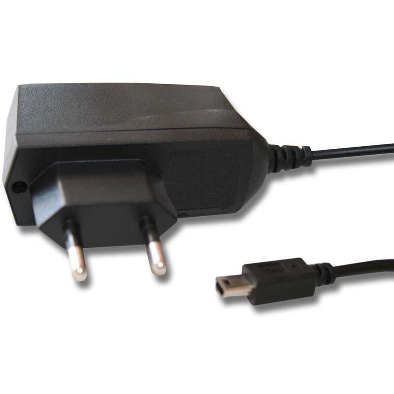 220V bloc d'alimentation chargeur et câble de chargeur compatible avec Mitac Mio Moov M300, M305, M405, Spirit V505 TV - Vhbw