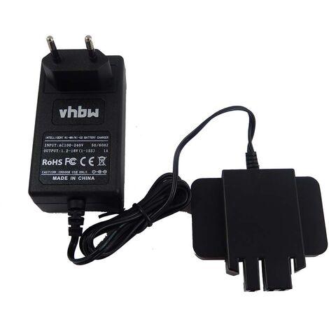 vhbw 220V cargador para batería de herramienta Milwaukee 0615-24, 0616-20, 0616-24, 0617-24, 49-24-0150, 6562-21, 6562-23, 6562-24