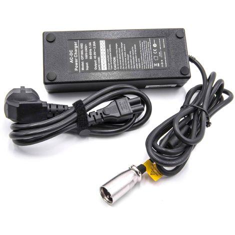 Premium 42 V 2 A 1pin Bloc d/'alimentation Câble De Charge Chargeur pour 36 V batteries pour petits E-Bike