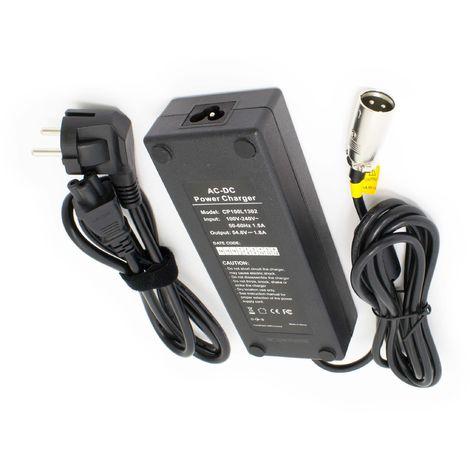Alimentation chargeur 54,6 V 2 A pour 48 V électrique Vélo Roller 3pin XLR