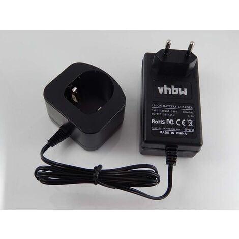 vhbw 220V fuente de alimentación, cargador para herramienta Ryobi CDA-18021B, CDA1802, CDA18021B, CDA18022B, CDA1802M, CDC-181M, CDI-1802, CDI-1802M