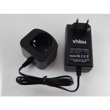 vhbw 220V fuente de alimentación, cargador para herramienta Ryobi CJSP-1801QEOM, CJSP-180QEO, CJSP-180QEOM, CMD-1802, CMD-1802M, CMI-1802, CMI-1802M