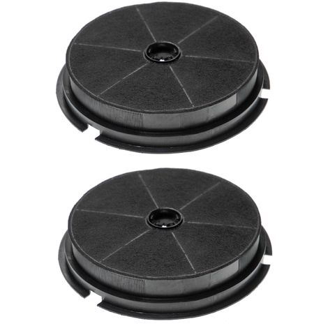 vhbw 2x Activated Carbon Filter suitable for Zanker LUXOR 60 X, LUXOR 90 BK, LUXOR 90 CU, LUXOR 90 WH, LUXOR 90 X, QUADRIFOGLIO 60 BK Extractor Fan
