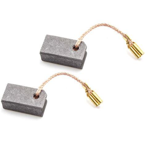 charbons pour moteur /électrique 6,3mm x 11mm x 33mm pour aspirateur comme Miele 2830480 vhbw 2x balai de charbon